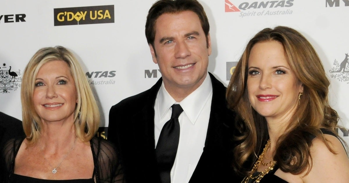 olivia newton-john john travolta kelly preston getty images