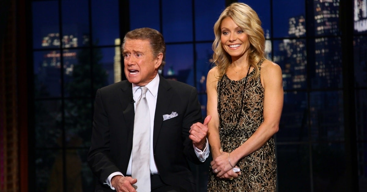 regis philbin kelly ripa getty images