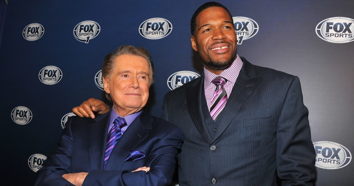 regis philbin michael strahan getty images