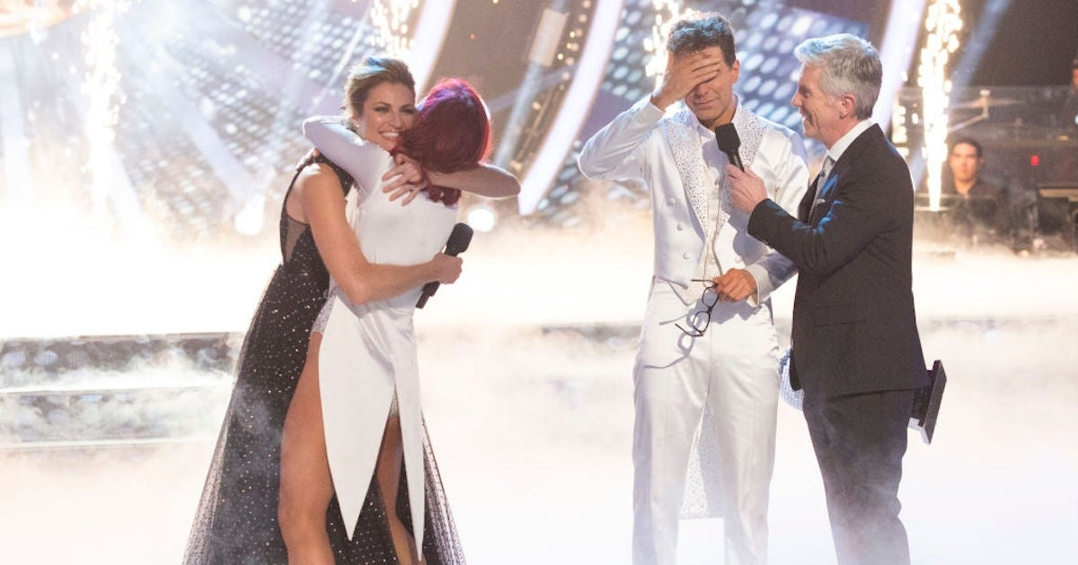 Sharna Burgess Erin Andrews Tom Bergeron