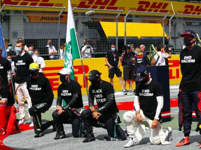 F1 Cameras Cut Away From EndRacism Campaign, Sparking Twitter Outcry