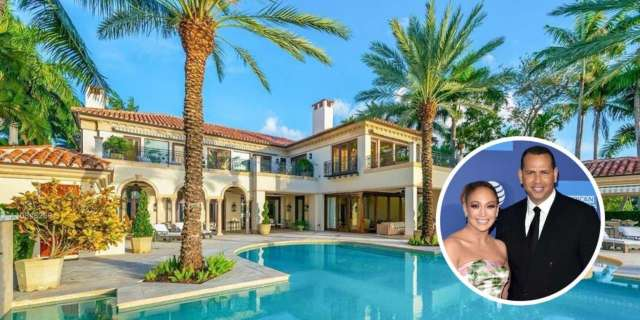 Alex Rodriguez Jennifer Lopez Miami estate