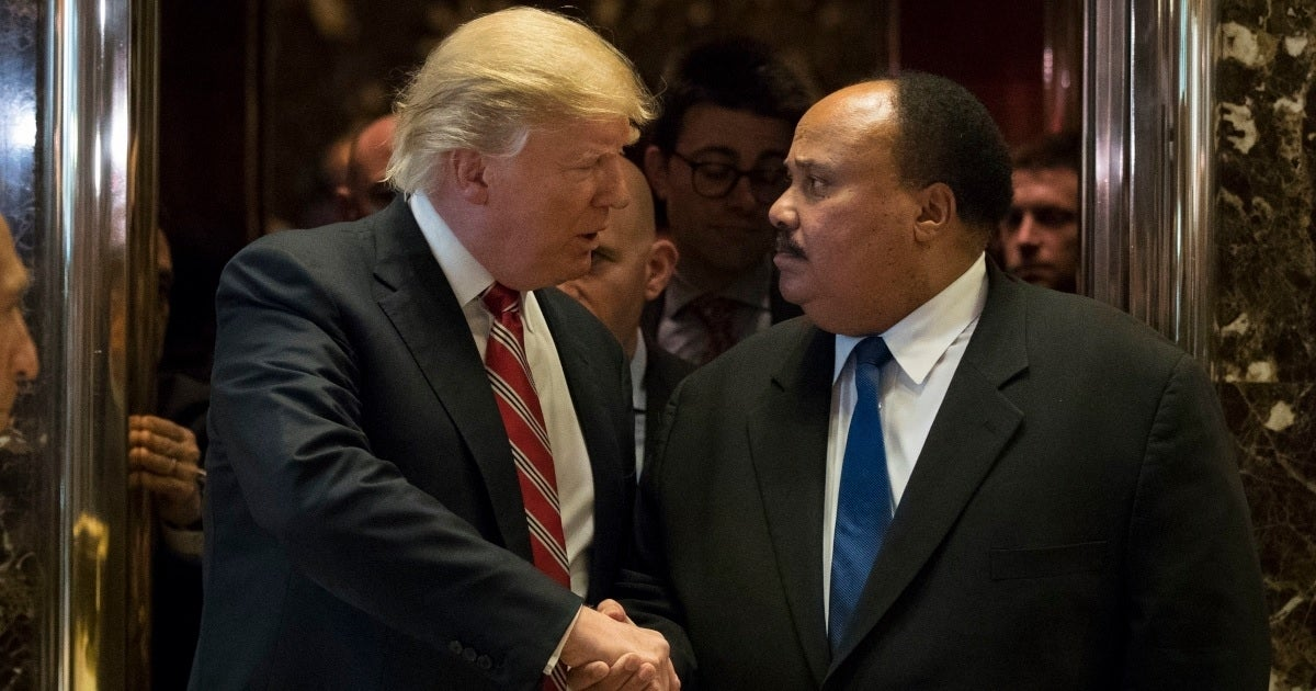 donald trump martin luther king iii getty images