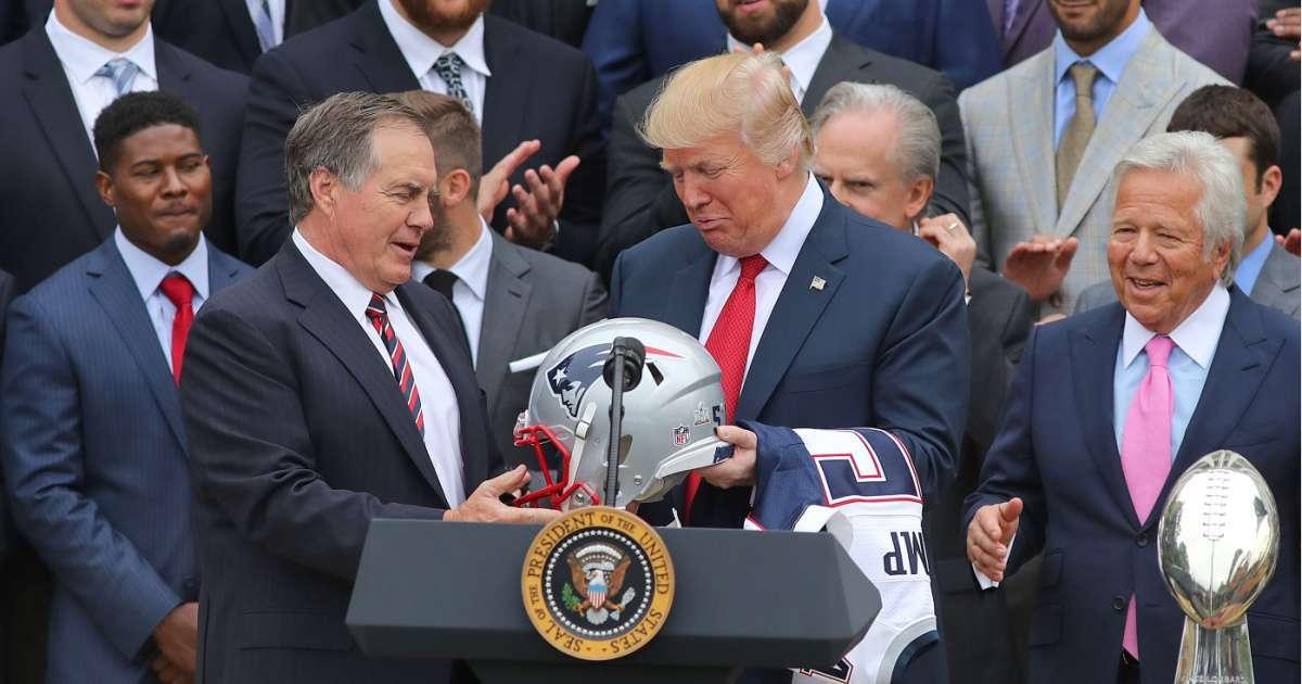 Donald Trump says Patriots coach Bill Belichick good general