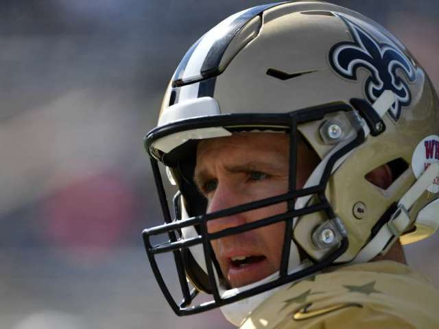 Drew Brees and Saints Players Put Jacob Blake's Name on Helmets at Training Camp