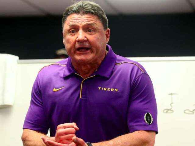 LSU Coach Ed Orgeron Admits 'Most' of Team Has Tested Positive for COVID-19