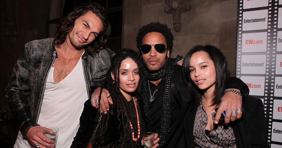 jason momoa lisa bonet lenny kravitz zoe kravitz getty images