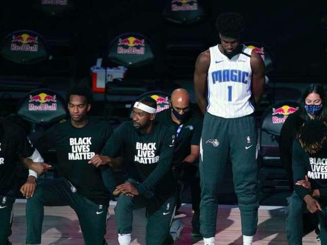 Orlando Magic Player Jonathan Isaac Stands for National Anthem, Doesn't Wear Black Lives Matter Shirt