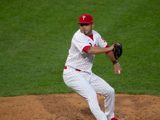 Jose Alvarez, Philadelphia Phillies Pitcher, Takes 105 mph Drive to the Groin