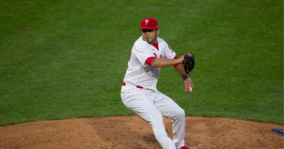 Jose Alvarez Phillies pitcher 105 mph shot groin