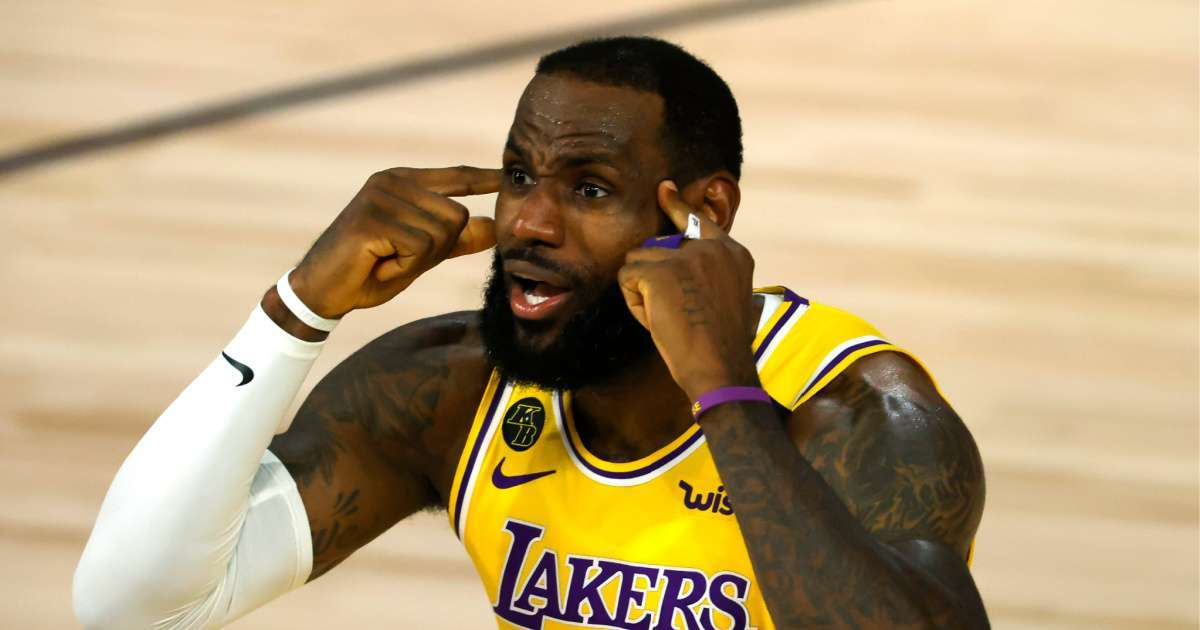LeBron James NBA not be sad lack Donald Trump viewing sets off social media