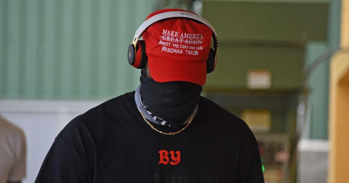 LeBron James wears fake MAGA hat seek justice Breonna Taylor