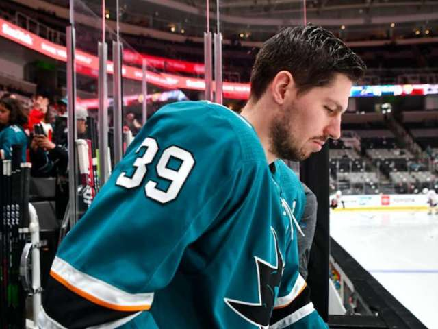Sharks' Logan Couture Claims He Was 'Sucker-Punched' After Expressing Support for Republican Party