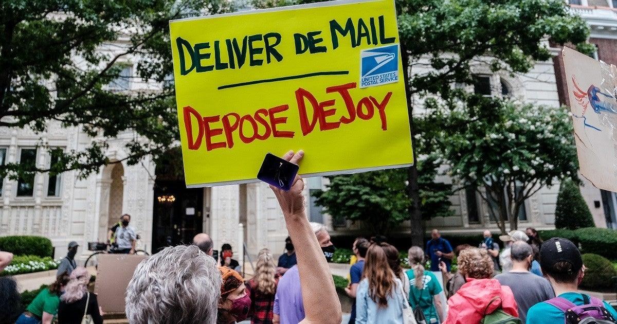 louis-dejoy-usps-protest-getty