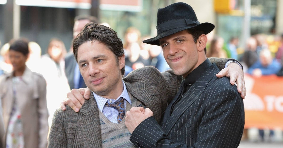 nick cordero zach braff getty images
