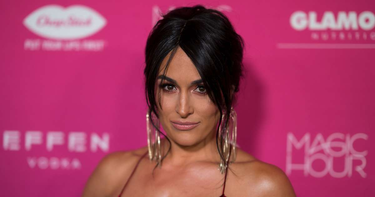 Nikki Bella gushes happy tears giving birth first time