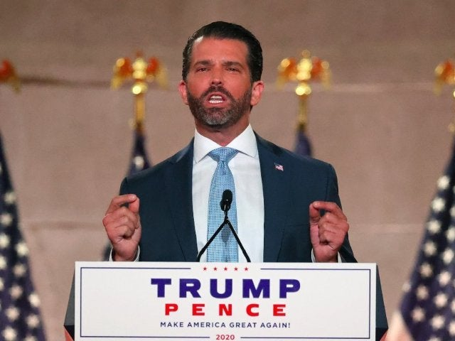 Donald Trump Jr. Blasts 'Rioting, Looting and Vandalism' in RNC Speech