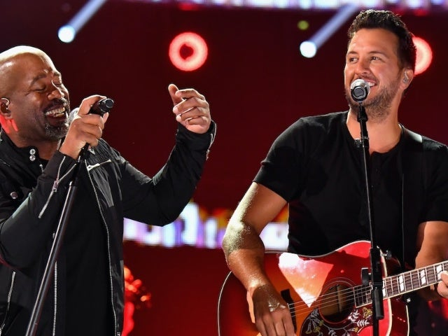 Luke Bryan and Darius Rucker Performing at the Grand Ole Opry on August 15