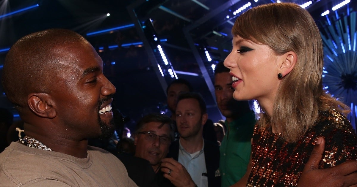 taylor swift kanye west getty images