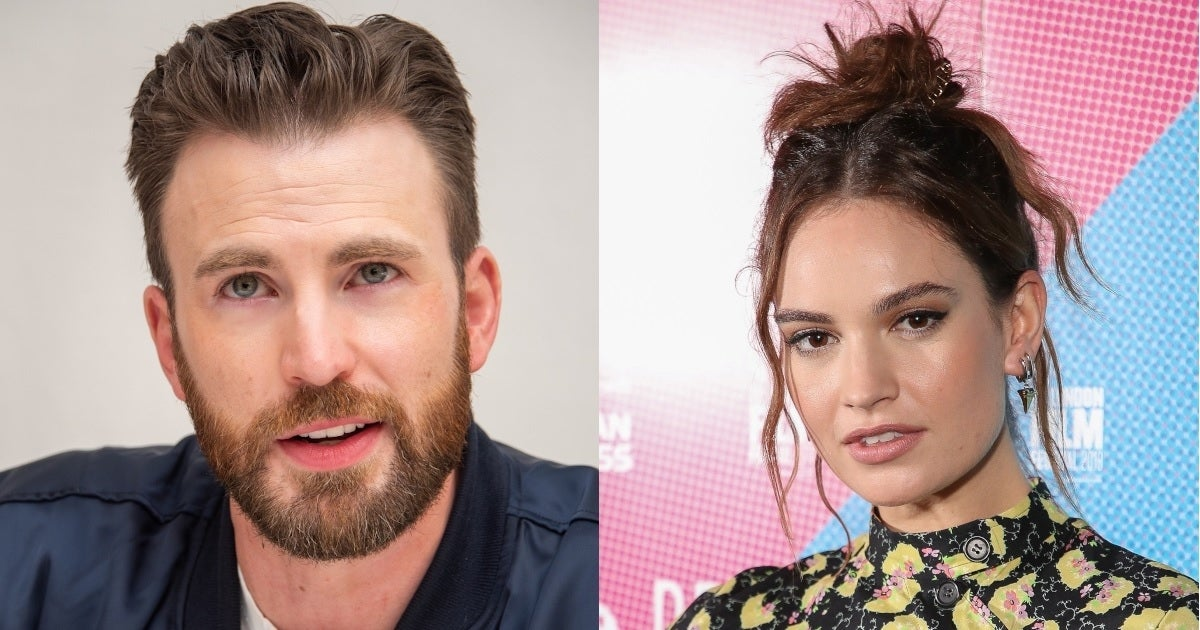 chris evans lily james getty images