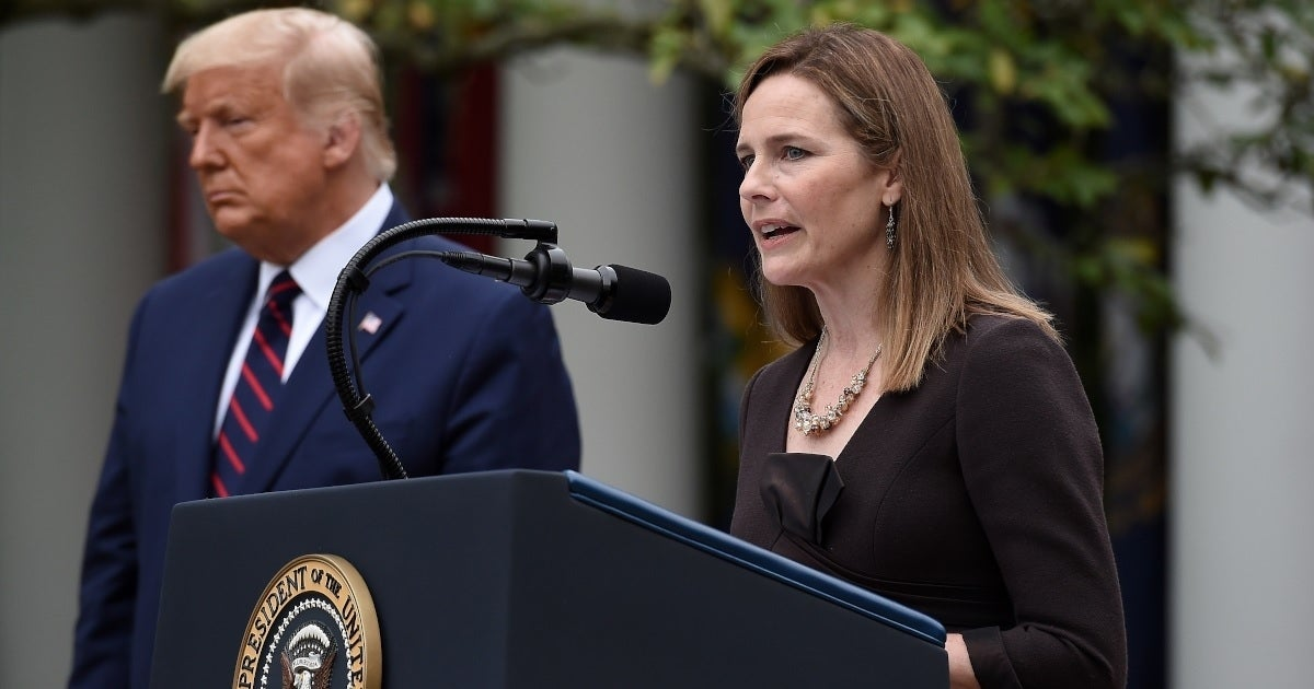 donald trump amy coney barrett getty images