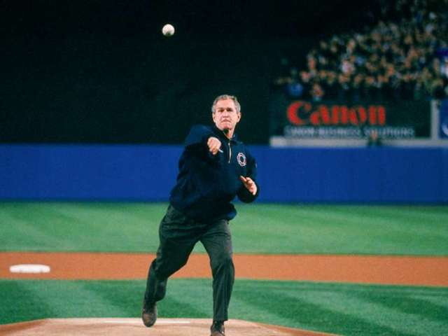 George W. Bush's 2001 World Series Pitch Resurfaces in Honor of 9/11