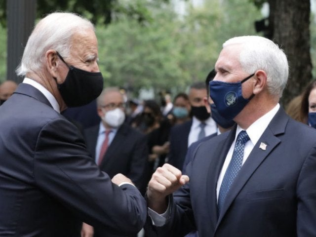 Joe Biden and Mike Pence Appear Together at 9/11 Memorial at Ground Zero