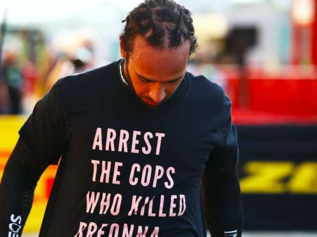 F1 Driver Lewis Hamilton Wears Breonna Taylor Tribute Shirt, and Fans are Split