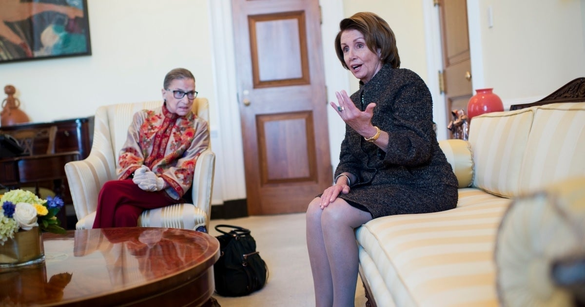 nancy pelosi ruth bader ginsburg getty images