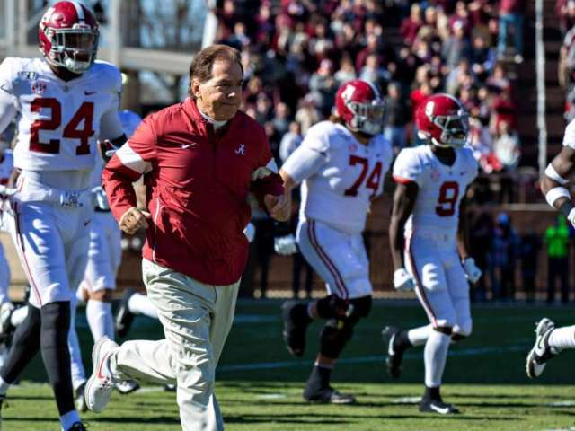 Nick Saban Leads Alabama Football Players in Black Lives Matter March