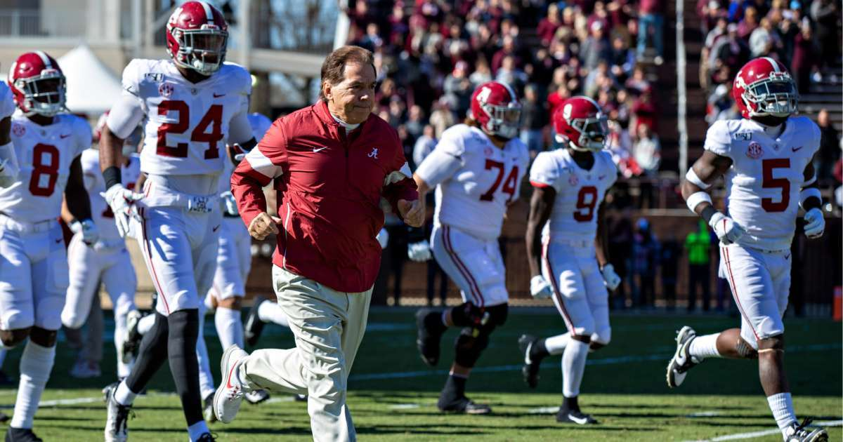 Nick Saban leads Alabama football players Black Lives Matter March