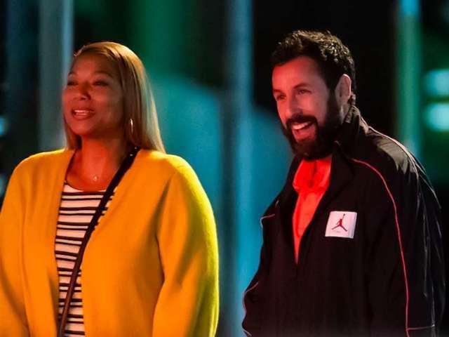 Adam Sandler and Queen Latifah Spotted Filming Netflix Basketball Movie 'Hustle'