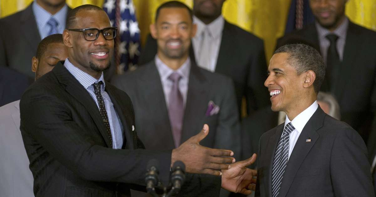 Barack Obama congratulates LeBron James winning 4th NBA title
