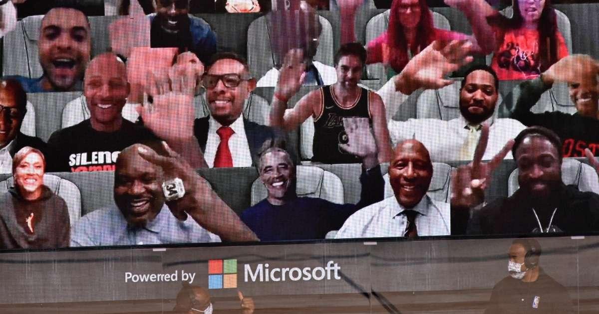 Barack Obama NBA Finals Game 1 virtual fan