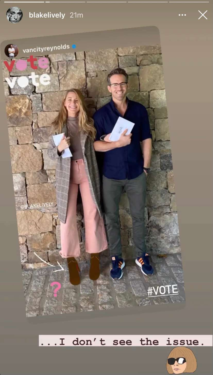 blake lively ryan reynolds voting instagram 1