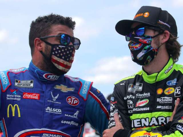 Bubba Wallace, Ryan Blaney Passing Time During Weather Delay With Friendly 'PGATOUR 2K21' Matches