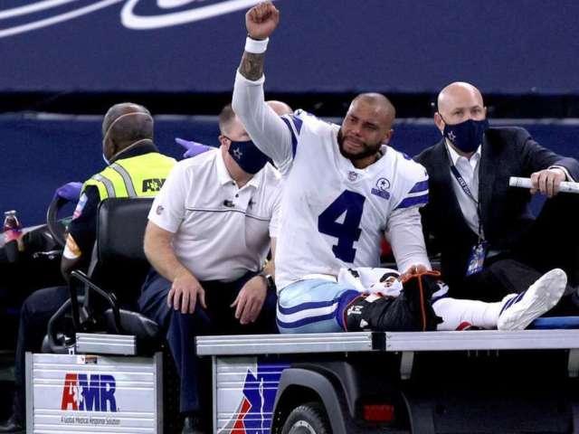 Dak Prescott: Cowboys Fans Send 'Get Well' Messages to QB After Horrendous Ankle Injury