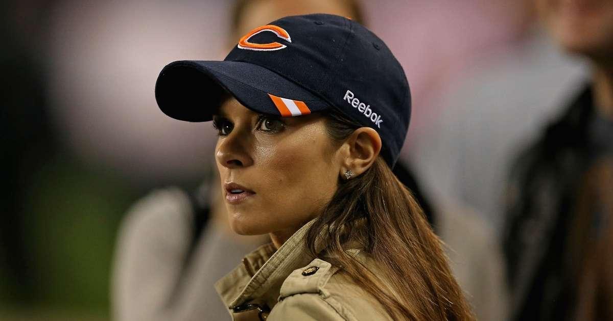 Danica Patrick watches Bears game Aaron Rodgers breakup