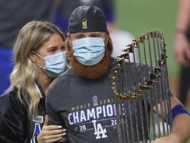 Dodgers' Justin Turner Returns to Field for World Series Celebration Despite Testing Positive for COVID-19