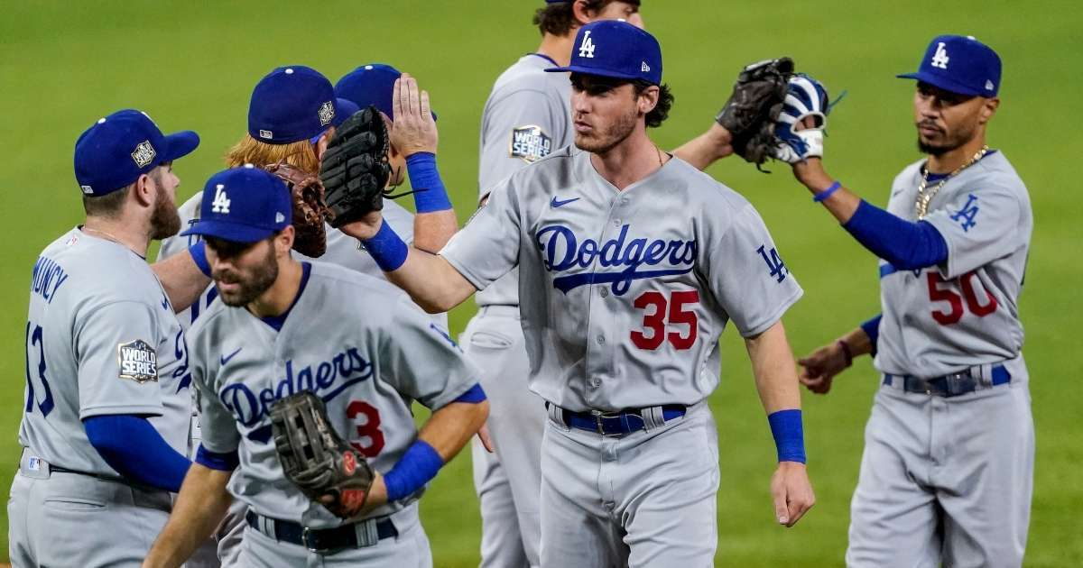 Dodgers one win away 2020 World Series title social media lights up