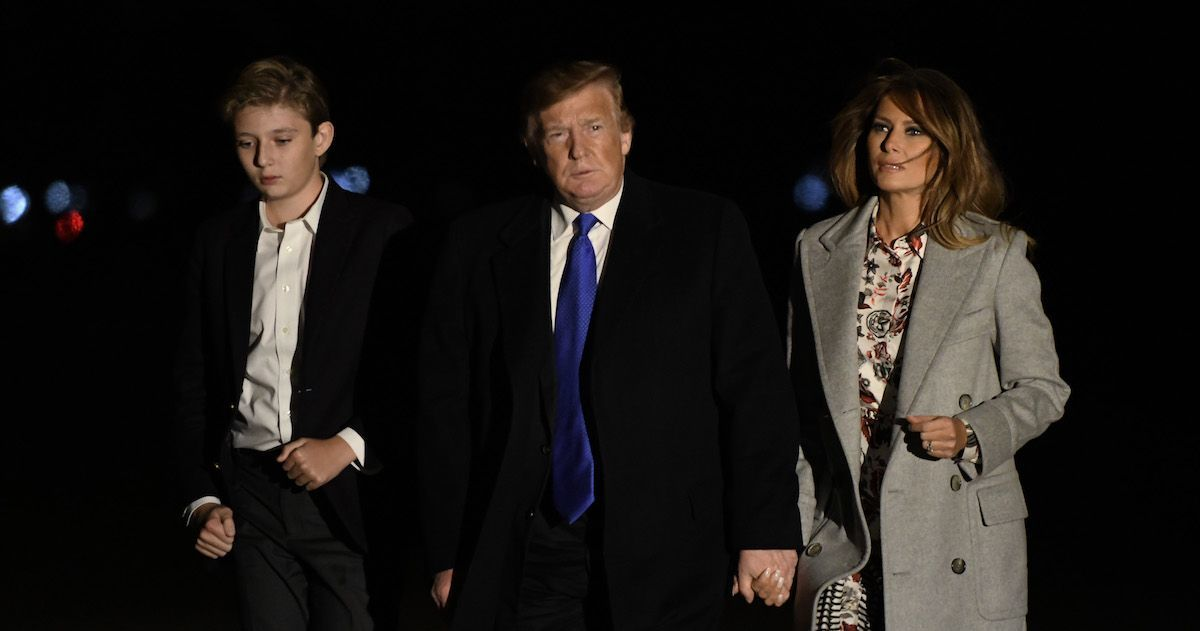 donald-trump-melania-barron-getty