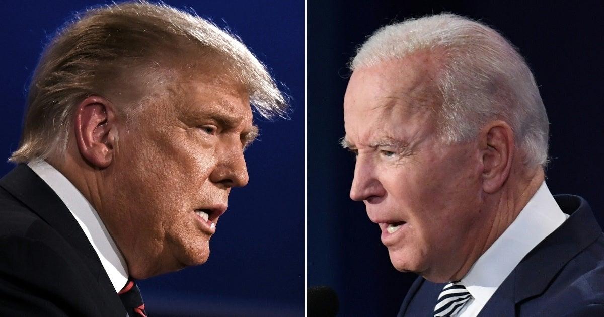 joe biden donald trump debate split getty images