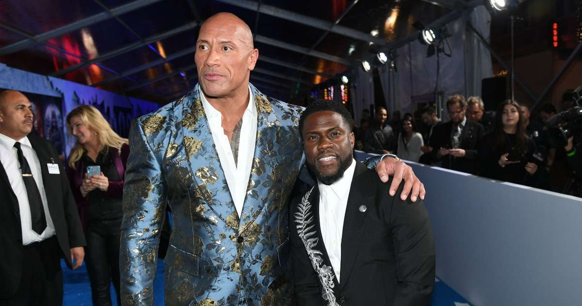 Kevin Hart mocks Dwayne The Rock Johnson workout injury video