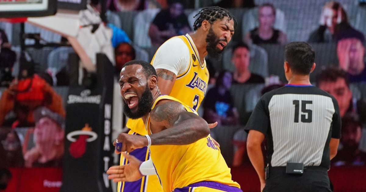 Lakers win NBA Championship beat Miami Heat Game 5 Finals