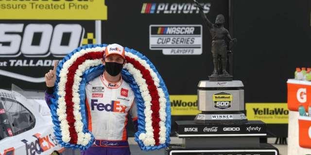 NASCAR Denny Hamlin new paint scheme reaction advance playoffs