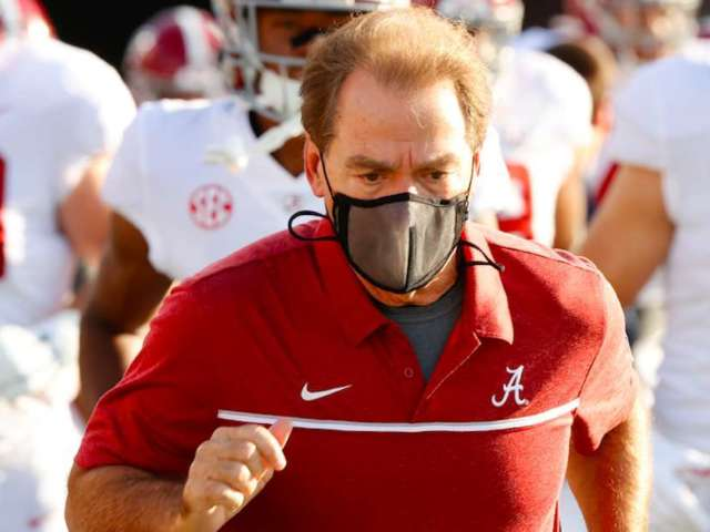 Alabama's Nick Saban Tests Positive for COVID-19, and Twitter Is up in Arms