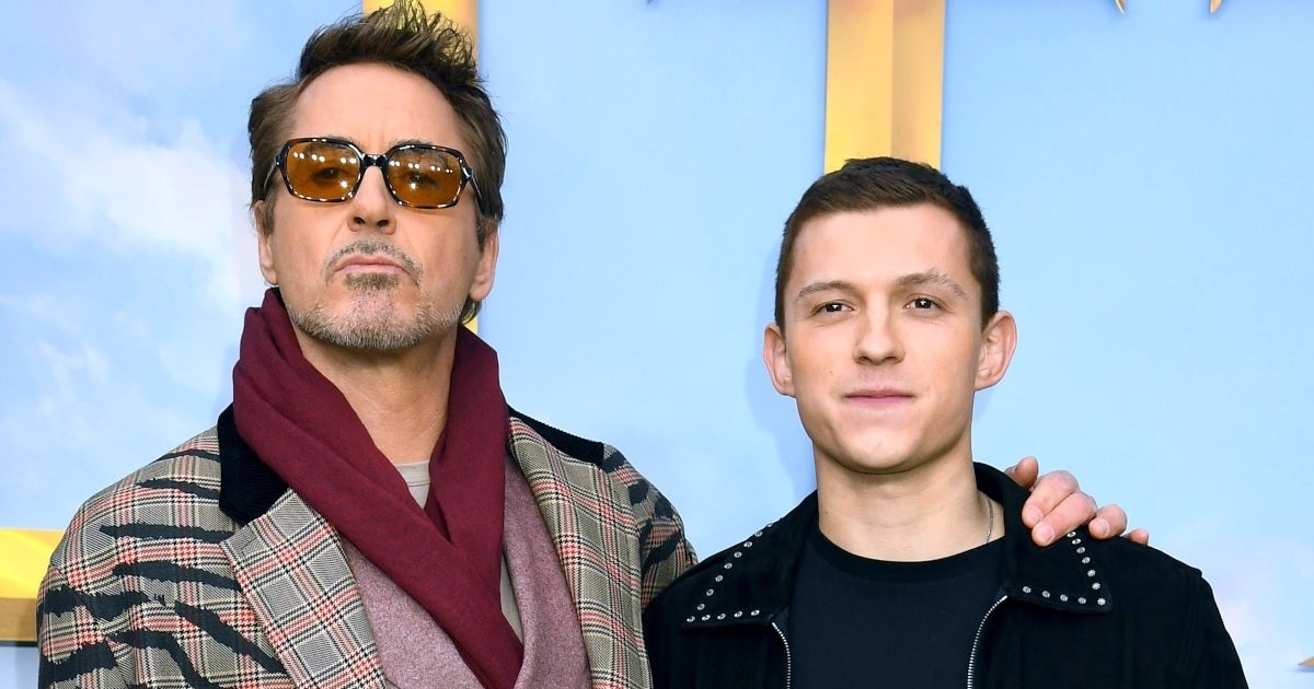 robert downey jr tom holland getty images