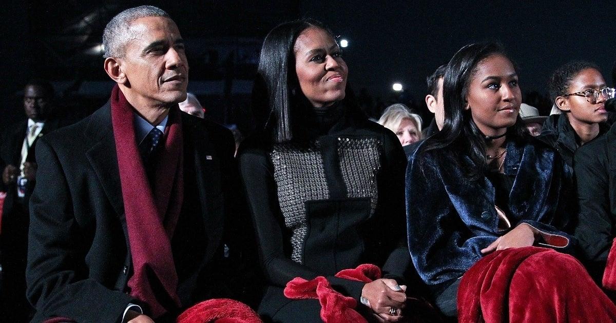 sasha obama barack michelle getty images