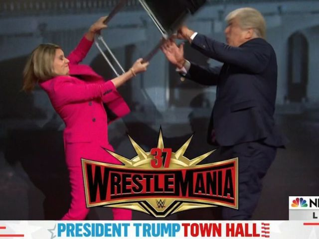 'SNL' Pokes Fun at NBC Town Hall With Savannah Guthrie Smacking Down Donald Trump in Wrestlemania