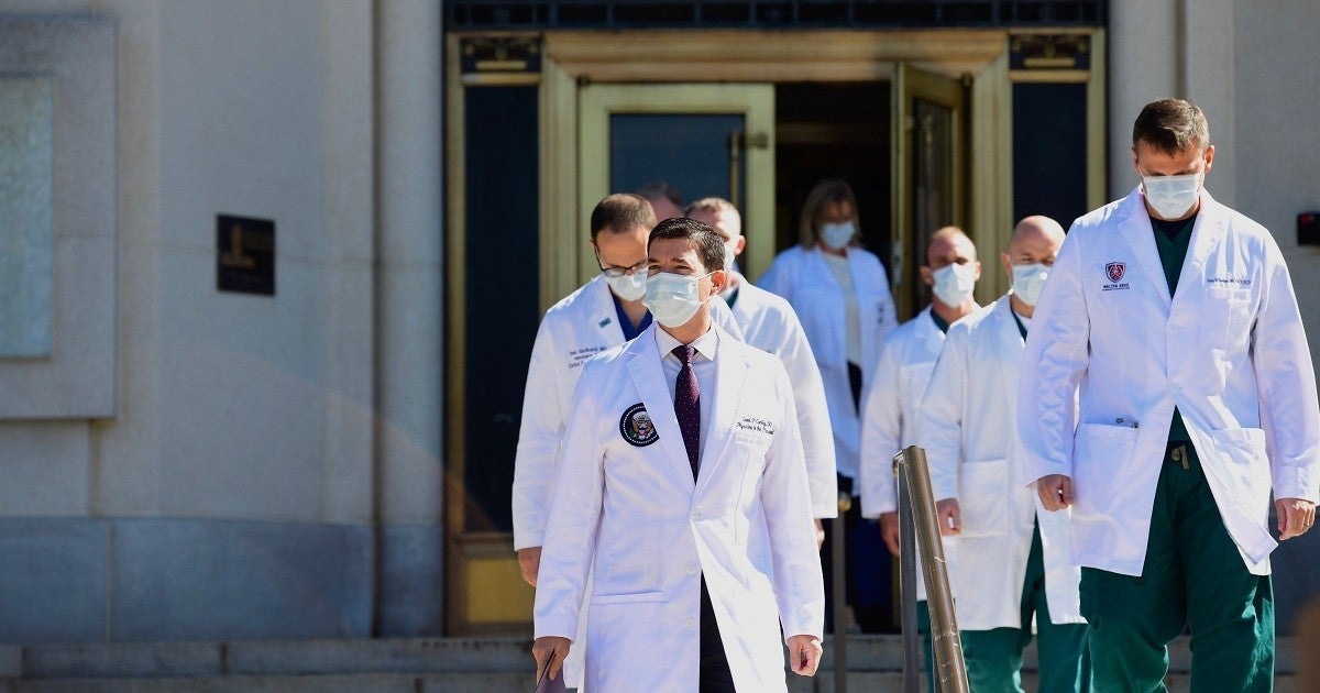 white-house-dr-sean-conley-trump-doctors-walter-reed-getty